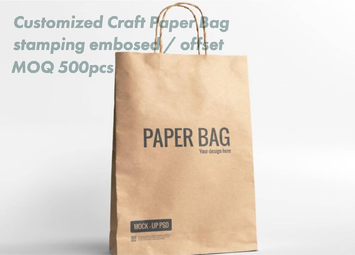 Customized craft paper bags