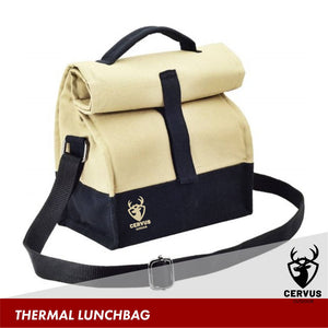 Canvas lunch bag with thermal lining