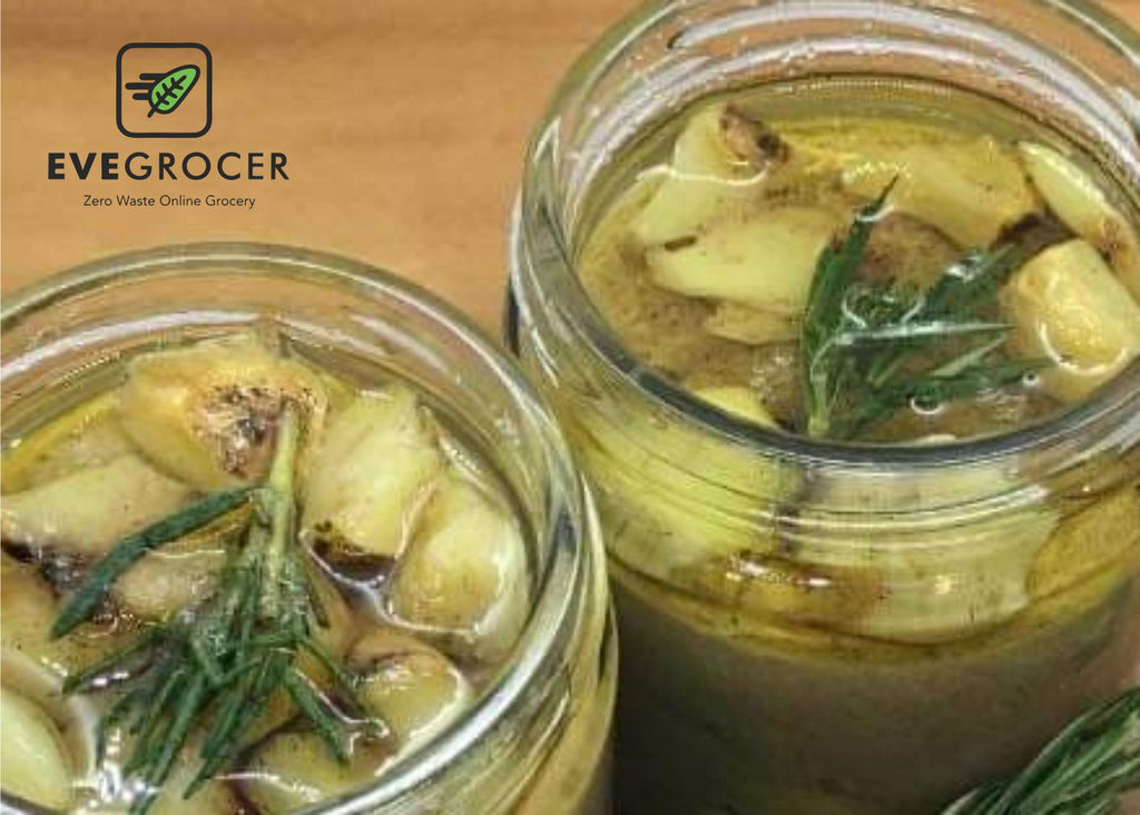 Roasted Garlic with olive oil