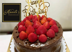 Double Layer Moist Chocolate cake with king berries