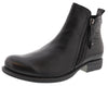 Spring Step Women Side Zipper Leather Booties Oziel