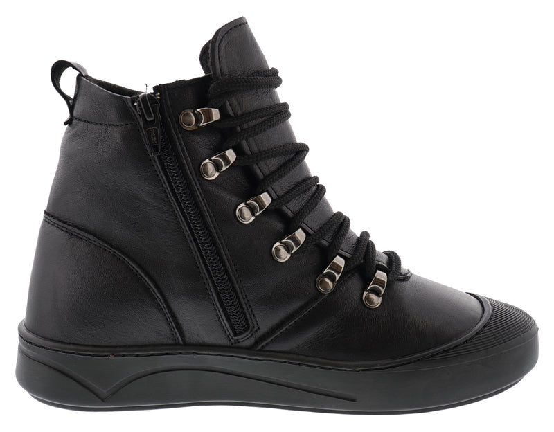 Spring Step Women's Lace Up Leather Booties Darleen