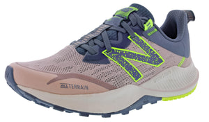 ,Saturn Pink/Natural Indigo,,Black/Moon Dust,,Lead/Tidepool,,Light Blue/Guava, New Balance Women Nitrel v4 Lightweight Trail Running Shoes