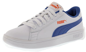 ,Bright Rose-Puma White, Puma Youth Smash v2 Classic Leather Shoes
