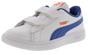 Puma Kids Smash v2 L V PS Leather Hook and Loop Shoes