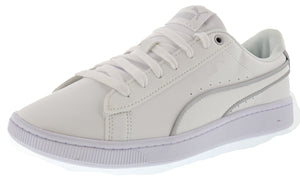 ,Wht-Svr-Purple-Bubblegum-Ime,,Black Silver, Puma Kids Vikky v2 Hem Classic Walking Shoes