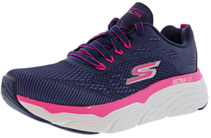 ,White/Aqua, Skechers Women Lightweight Running Shoes Max Cushioning Elite Spark