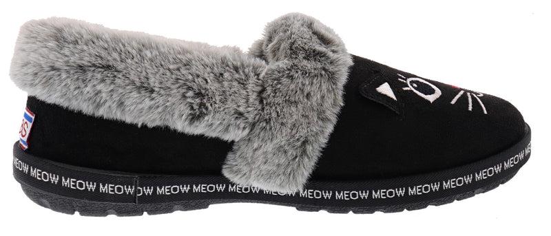 Skechers Bobs Women's Too Cozy- Meow Pajamas Memory Foam Slippers