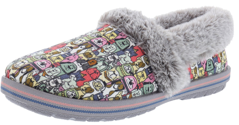 Skechers Bobs Women's Too Cozy- Snuggle Rovers Memory Foam Slippers