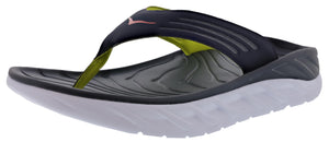 ,Black/Dark Gull Grey107, Hoka One One Men Lightweight Stress Reduce Sandals Ora Recovery Flip