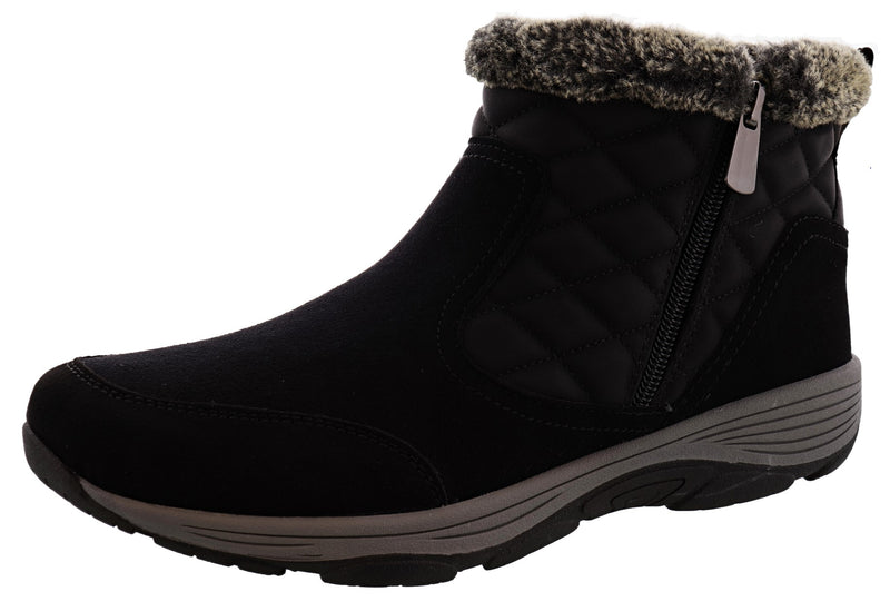 Easy Spirit Women Faux Fur Ankle Booties Vance 11