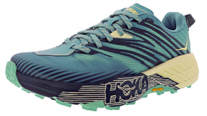 ,Antigua Sand/Anthracite,,Majolica Blue/ Heather,,Outer Space/Hot Coral, Hoka One One Women Ultra Marathon Trail Running Shoes Speedgoat 4