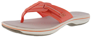 Clarks Women Cloudsteppers Walking Flip Flop Sandals Brinkley Jazz