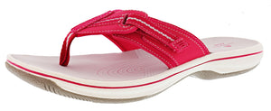 ,Coral, Clarks Women Cloudsteppers Walking Flip Flop Sandals Brinkley Jazz