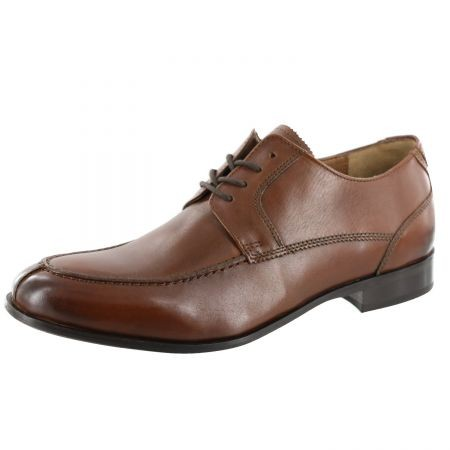 Bostonian Clarks Mens Dress Business Brown Leather Lightweight Office Shoes