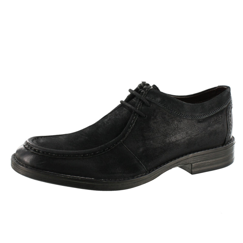 Clarks Mens Black Dress Lace Up Office Business Work Shoes