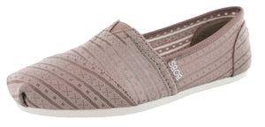 Skechers Women Easy On Casual Walking Slip On Flats Plush Urban Rose