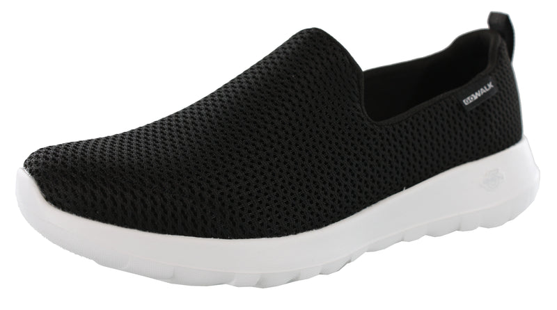 Skechers Women Wide Width Easy On Casual Flexible Walking Slip On Shoes