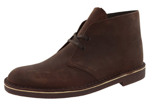 Clarks Mens Desert Hi Top Lace Up Office Wide Width Business Work Boots