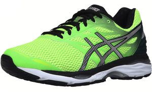 ,White/Silver/Black,,Imperial/Yellow/Black,,Carbon/Silver/Vrmilion, ASICS Men Walking Trail Cushioned  Running Shoes Cumulus 18