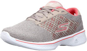 ,Charcoal/Coral,,Pink/Lime, Skechers Women Walking Trail Running Lightweight Sneakers Exceed