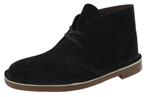 ,navy nubuck, Clarks Mens Desert Hi Top Lace Up Office Business Work Boots Bushacre
