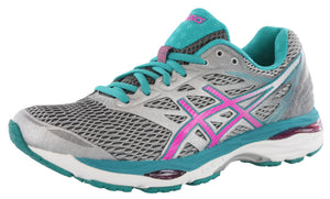 ,AquaSplash/White/Pink, ASICS Women Walking Trail Cushioned  Running Shoes Cumulus 18