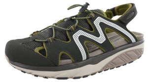 ,Black/Charcoal/Grey786, MBT Men Rocker Bottom Recovery Trail Walking Sandals Jefar 6