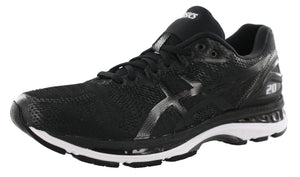 ,Black/Frosted Rose, ASICS Women Walking Trail Cushioned Running Shoes Nimbus 20