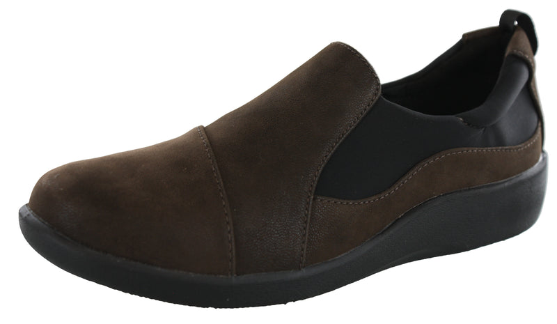 Clarks Women Cloudsteppers Slip On Lightweight Flats Sillian Paz