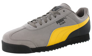 ,Red Steel/Grey/Puma Black, Puma Men Lightweight Roma Nubuck Classic Retro Shoes