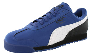 ,Red Steel/Grey/Puma Black,,Gray Spectra/Yellow/Black, Puma Men Lightweight Roma Nubuck Classic Retro Shoes