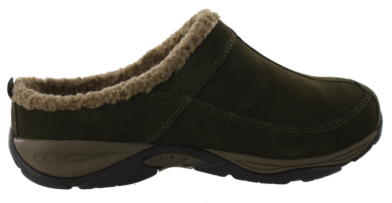 Easy Spirit Women Warm Wide Width Cozy Clog Slippers Exchange
