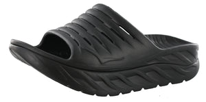 ,EBONY / DRESDEN BLUE, Hoka One One Men Lightweight Sandals Ora Recovery Slide 2