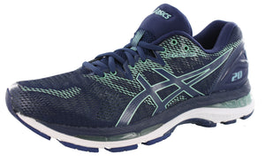 ,Black/Frosted Rose,,Black/White/Carbon1,,Azure/White, ASICS Women Walking Trail Cushioned Running Shoes Nimbus 20