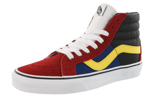 ,Navy321012,,Black/Black/White10,,True White10,,Racing Red/True White,,(Mix Checker) Chili Pepper,,(Checkerborad) Multi/True, Vans Mens Hi Top Walking Skate Shoes Vulcanized Rubber Sole Sk8-Hi