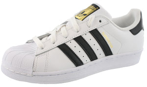 Adidas Youth Superstar Shell-Toe Leather Classic Sneakers