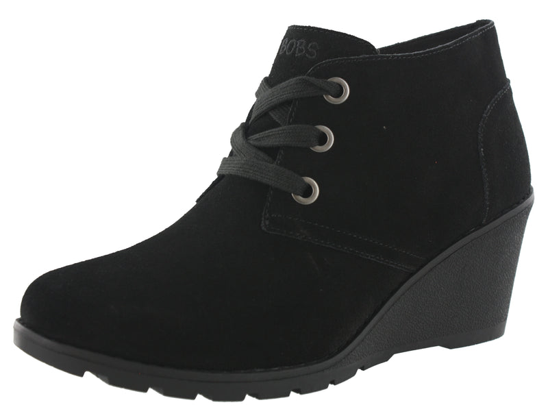 Skechers Women Tumble Weed Ghost Town Wedge Ankle Chukka Boots