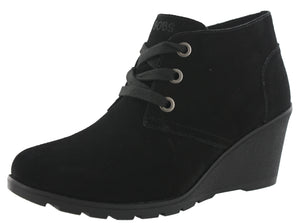 ,Chesnut301, Skechers Women Tumble Weed Ghost Town Wedge Ankle Chukka Boots