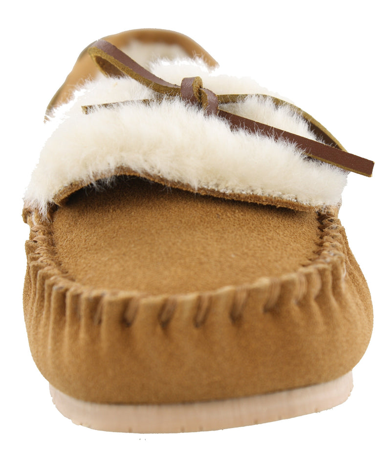 Clarks Women Warm Cozy Slip On Moccasin Slippers Holly