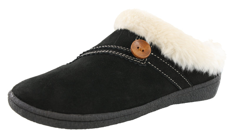 Clarks Women Warm Cozy Slip On Clog Slippers Rebecca