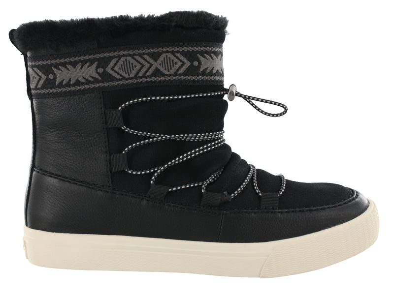 Toms Women Pull on Water-Resistant Ankle Boots Alpine