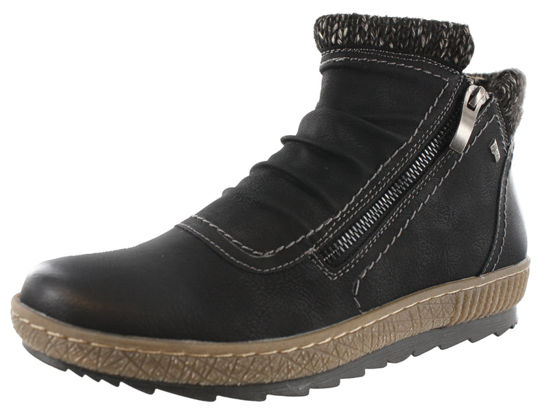 Spring Step Women Cleora Dual Zipper Ankle Booties