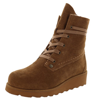 ,Chestnut Distressed2025, Bearpaw Women Winter Lace Up Boots Krista