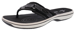 Clarks Women Sandals Lightweight Flip Flops Breeze Sea