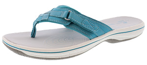 ,Black,,Navy,,White,,Pewter,,Silver, Clarks Women Sandals Lightweight Flip Flops Breeze Sea