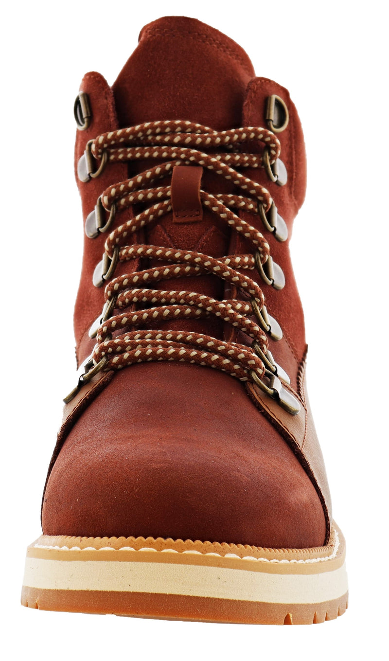 Toms Women Lace Up Waterproof Ankle Boots Mesa