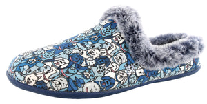 Skechers Women Bobs Beach Bonfire Warm Woof Memory Foam Slippers
