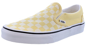 ,True White 07,,Black/White Checkerboard,,Black,,Black/Black09, Vans Unisex Walking Skate Shoes Vulcanized Rubber Classic Slip On
