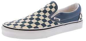 ,True White 07,,Black/White Checkerboard,,Black,,Black/Black09,,(Checkerboard)Gldnhztrwht, Vans Unisex Walking Skate Shoes Vulcanized Rubber Classic Slip On
